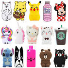 For Samsung Galaxy Phones 3D Cute Animals Cartoon Soft Silicone Case