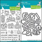 Lawn Fawn WINTER VILLAGE Clear Photopolymer Stamps Set and Dies Bundle 2017