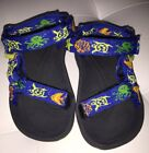 TEVA HURRICANE TODDLER BOYS SANDALS BLUE SEA CREATURES SIZE 6 GENTLY LOVED