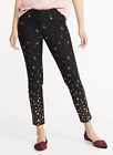 OLD NAVY Pants Pixie Ankle Mid Rise Stretch Rose Print size 6 120007 NEW HBV6