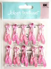 Scrapbooking Crafts Jolees Stickers Pink Ballet Shoes Slippers Repeats Bows