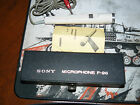 Vintage Sony F-96 Dynamic Microphone  With Case and manual no stand