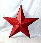 NEW~Large Country-Red 3-D Barn Star Wall Hanging Scroll Embossed Tin Farmhouse