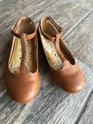 Hanna Andersson Girls 1 Brown Cognac Tora Tstrap Shoes