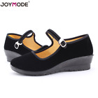 Womens Chinese Mary Jane Ballerina Work Velvet Shoes Lady Cotton Sole Size 5 11