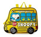 Peanuts Snoopy Woodstock Yellow School Bus Backpack 12 Kids Toddler Childs NEW