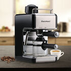 EXCELVAN Professional Stainless Steel Steam Espresso Cappuccino Maker 4Cup 800W
