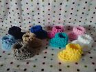 TODAY ONLY LOT 10 PAIRS Crochet Baby GIRL  BOY BOOTIES SLIPPERS PREEMIE