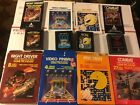 Atari 2600 GAME CARTRIDGE LOT OF 4 Combat Pac Man Pinball Night Rider W/boxs