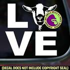 LOVE Word GOAT Group of Goats Farm Animals Sign Car Window Vinyl Decal Sticker