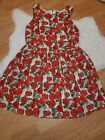 Sunday in Brooklyn Anthropologie Dress Large Red Roses