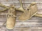 WILD OATS Leather Nubuck Leather Tan Beige Lace Up Moccasin Booties Boho Sz 9