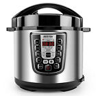 Electric Pressure Pot 6L Programmable Multi Cooker Stainless Steel Tray Steamer