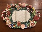 Fitz and Floyd CANDY LANE Gingerbread Christmas Large Serving Platter Plate