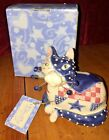 Whimsiclay Amy Lacombe Patches Fancy Felines Cats MIB