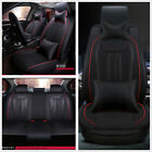 Deluxe Edition PU Leather Car Seat Cover Front+Rear 5 Seats Cushion with Pillows