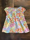Gymboree Toddler Girls Multi Bright Floral Print Cap Sleeve Blouse Size 2T EUC