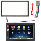 Kenwood Double Din Car Bluetooth USB CD Player W Install Mount Kit Wire Harness