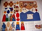 Christmas Nativity Scene Manger Fabric Panel Creche Cranston Cut Sew baby Jesus