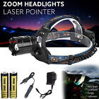 CREE XM-L T6 Led Focus Laser Scheinwerfer Stirnlampe Zoombare + 2 X 18650 +