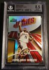 LEBRON JAMES 2003 FINEST REFRACTOR #183 250 ROOKIE BGS 8.5 W 2 9.5'S (823)