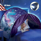 Kids Bed Dream Tents Foldable Winter Wonderland with LED Light Baby Tent Indoor
