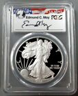 2008 W AMERICAN SILVER EAGLE EDMUND MOY SIGNED PCGS PROOF 70 DCAM