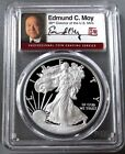 2011 W AMERICAN SILVER EAGLE EDMUND MOY SIGNED PCGS PROOF 70 DCAM