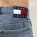Vintage Tommy Hilfiger jean shorts blue denim 90s big spell out logo Mens size32