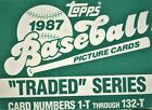 1987 Topps Traded Baseball Card Factory Set with Greg Maddux Rookie