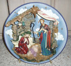 New Lighted Nativity Plate w Easel House of Lloyd Christmas Around the World