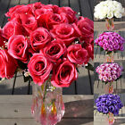 Large Bouquet 24 Heads Fake Rose Artificial Flower Wedding Party Home Decor Hot