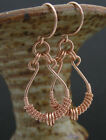 Handcrafted 14k Rose Goldfilled Wire Wrapped Earrings