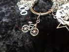 Excited Youre Meeting Fitness Goals Bicycle Charm for Weight Watchers Keychain