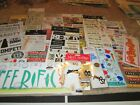 Scrapbooking Lot of Stickers Rub Ons and More