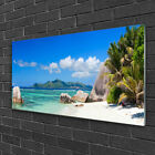 Tulup Print on Glass Wall art 100x50 Picture Image Ocean Beach Landscape
