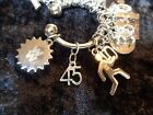 Celebrate Your 45 pound Weight Loss with 45 Charm for Weight Watchers Keychain