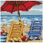 Dimensions Needlecrafts Beach Chair Duo 7223 Mini Needlepoint Kit