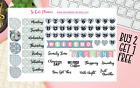 Mermaid Set Planner stickers Date Covers Icons Happy Erin Condren sticker
