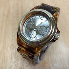 Stylish BWC Mens Faux Tiger Eyes Gold Tone Analog Quartz Watch Hours~New Battery