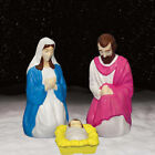 NO TAX 3 Piece Lighted Outdoor Christmas Nativity Scene Home Holiday