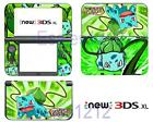 Poekmon Bulbasaur Cute Vinyl Skin Stickers Decals for Nintendo New 3DS XL 2015