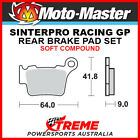 Moto-Master Husqvarna TXC450 2008-2010 Racing GP Sintered Soft Rear Brake Pad 09