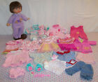 Fisher Price Little Mommy Baby Doll + Clothes Lot Dress Sleepers Bottle 14