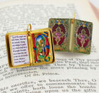 Christmas Bible Nativity of Jesus Miniature Book Shaped Quote Charm Pendant