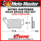 Moto-Master KTM 625 SXC 2005-2006 Nitro Sintered Hard Rear Brake Pads 093221