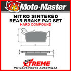 Moto-Master Gas-Gas Pampera 450 2007 Nitro Sintered Hard Rear Brake Pads 091821