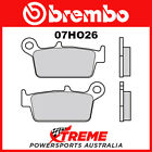 Brembo TM Racing MX 250 2001-2004 Sintered Dual Sport Rear Brake Pads 07HO26-SX