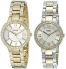 Fossil Womens Virginia Gold or Two Tone Stainless Steel Watch Choice of Color
