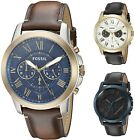 Fossil Mens Grant 44mm Chronograph Leather Watch Choice of Color